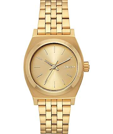 Nixon Medium Time Teller All Gold Watch