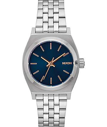 Nixon Medium Time Teller Navy & Rose Gold Watch
