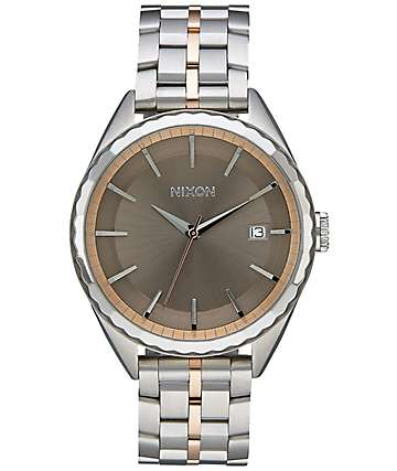 Nixon Minx Silver, Rose & Taupe Watch