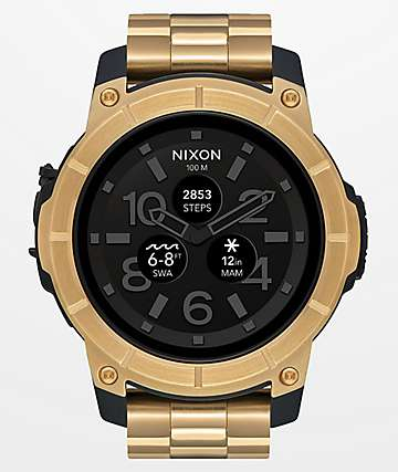 Nixon Mission Gold Touch Screen Watch