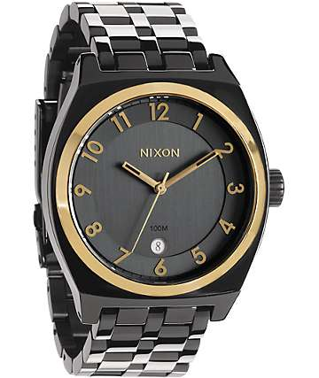 Nixon Monopoly GunNGold Analog Watch