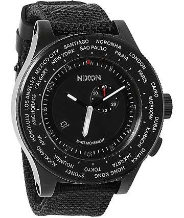 Nixon Passport All Black Chronograph Watch