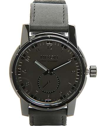 Nixon Patriot Leather Analog Watch