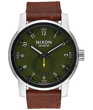 Nixon Patriot Leather Surplus & Brown Watch
