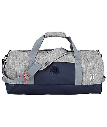Nixon Pipes Black Wash & Navy Duffle Bag