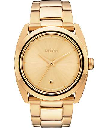 Nixon Queenpin All Gold Watch