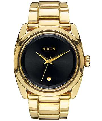 Nixon Queenpin Black & Gold Watch