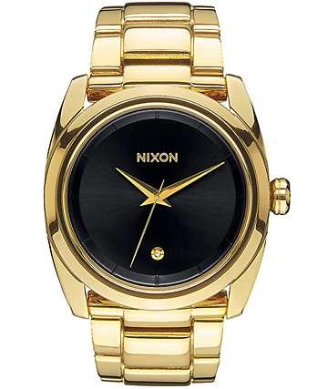 Nixon Queenpin Black & Gold Watch
