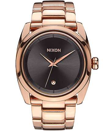Nixon Queenpin Rose Gold & Gunmetal Watch