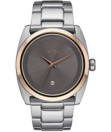 Nixon Queenpin Silver, Rose & Taupe Watch