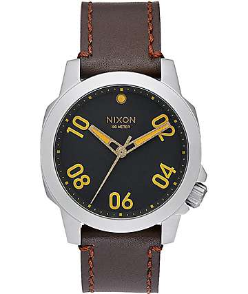 Nixon Ranger 40 Leather Analog Watch