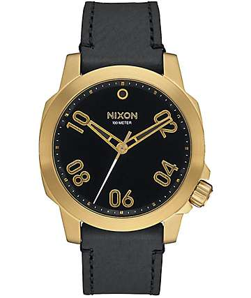 Nixon Ranger 40 Leather Gold & Black Watch