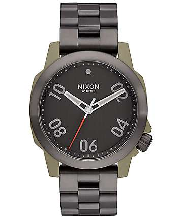 Nixon Ranger 40 Sage & Gunmetal Analog Watch