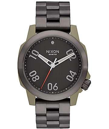 Nixon Ranger 40 Sage & Gunmetal Analog Watch