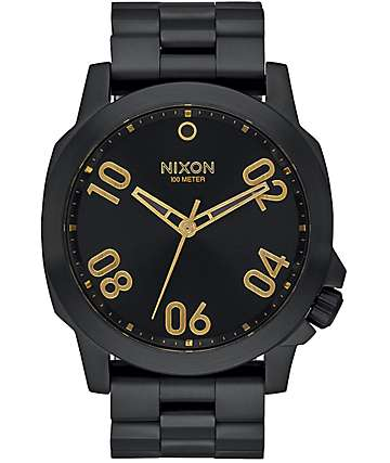 Nixon Ranger 45 Black & Gold Watch