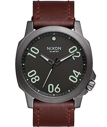 Nixon Ranger 45 Leather Watch