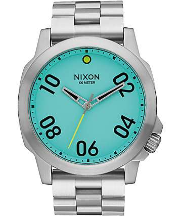 Nixon Ranger 45 Seafoam Lum Analog Watch