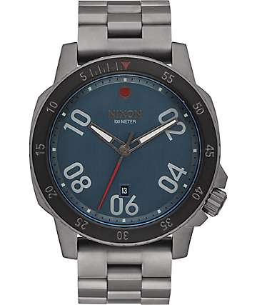 Nixon Ranger All Gunmetal & Dark Blue Watch