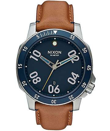 Nixon Ranger Leather Analog Watch