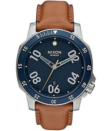 Nixon Ranger Leather Analog Watch