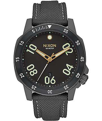 Nixon Ranger Nylon Gunmetal & Lum Watch