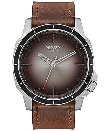 Nixon Ranger Ops Leather Ombre Taupe Analog Watch