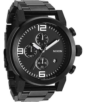 Nixon Ride SS All Black Chronograph Watch