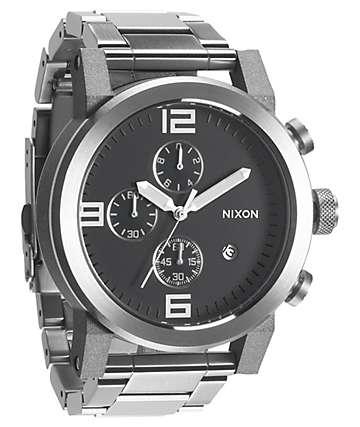 Nixon Ride SS Black & Chrome Chronograph Watch