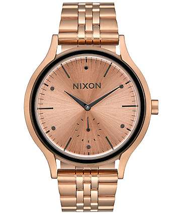 Nixon Sala All Rose Gold & Gunmetal Watch