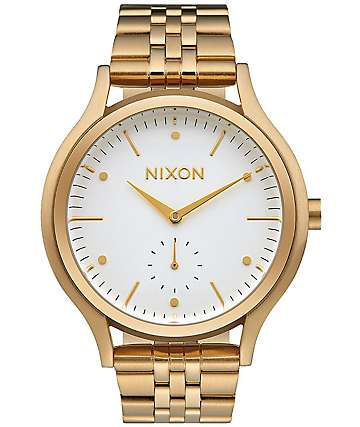 Nixon Sala Gold & White Watch