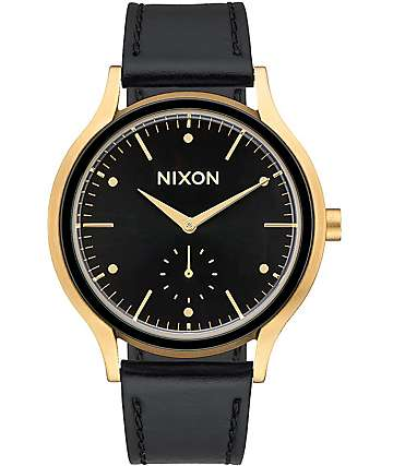 Nixon Sala Leather Gold & Black Watch