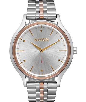 Nixon Sala Silver, Gold & Rose Gold Watch