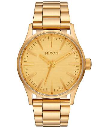 Nixon Sentry 38 SS reloj analógico en color oro