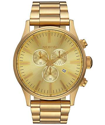 Nixon Sentry Chrono All Gold Watch