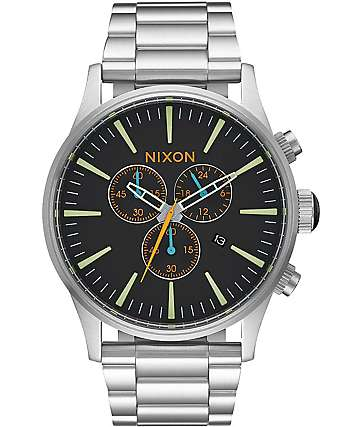 Nixon Sentry Chrono Black & Multi Watch