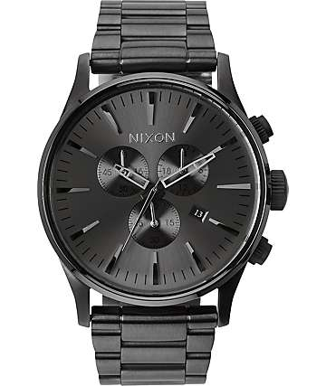 Nixon Sentry Chrono Gunmetal Analog Watch