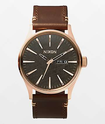 Nixon Sentry Leather reloj analógico