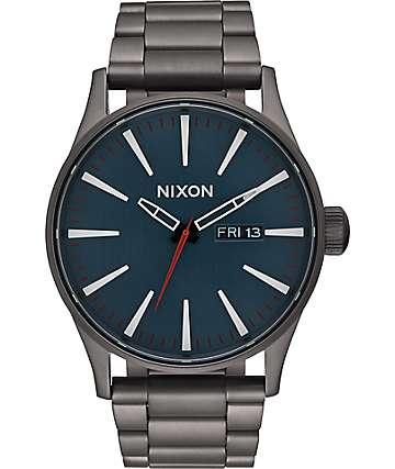 Nixon Sentry SS All Gunmetal & Dark Blue Watch