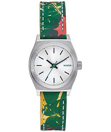 Nixon Small Time Teller Leather Palmade Analog Watch