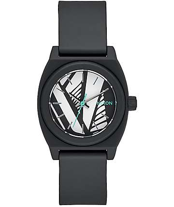Nixon Small Time Teller P Black and Bleach Watch