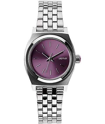 Nixon Small Time Teller Plum Watch