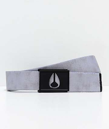 Nixon Spy Concrete Grey Web Belt