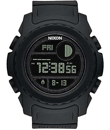 Nixon Super Unit All Black Digital Watch