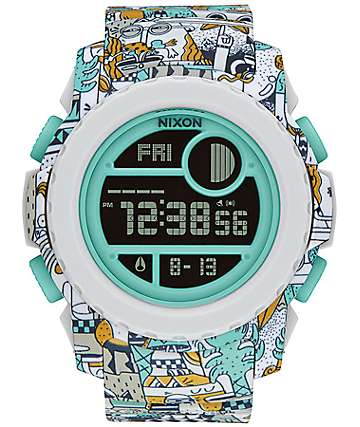 Nixon Super Unit Beach Drifter Digital Watch