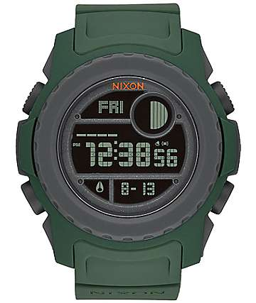 Nixon Super Unit Surplus & Gray Digital Watch