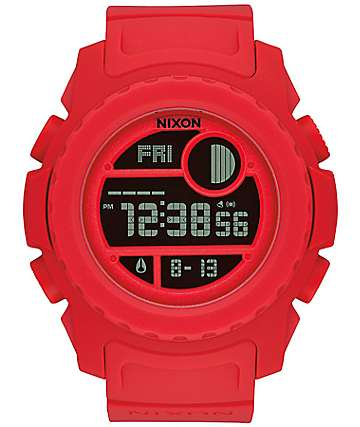 Nixon Super Until All Red Digital Watch