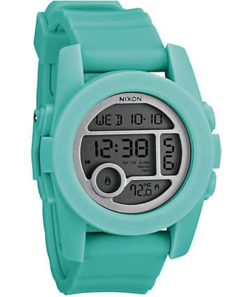 Nixon The Unit 40 Light Blue Digital Watch