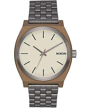 Nixon Time Teller 37 reloj en colores latón y plomo