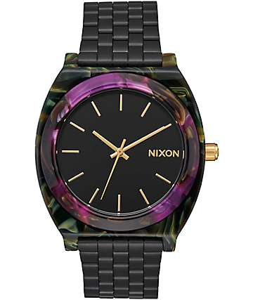 Nixon Time Teller Acetate Multi Colored & Black Watch
