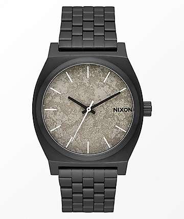 Nixon Time Teller Black & Concrete Watch